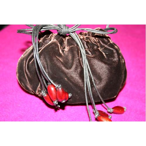 Sac Yves Saint Laurent Velours marron