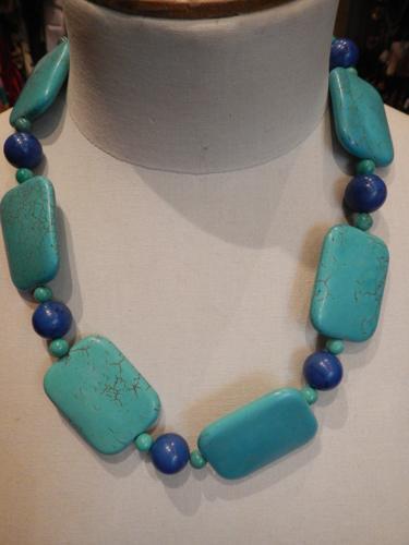 Collier Defile de Marques ceramique turquoise