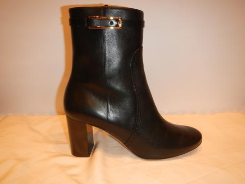 Ferragamo boots black leather T.40.5