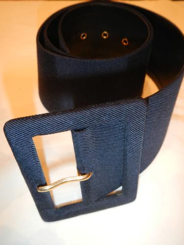 Yves Saint Laurent belt Ottoman navy