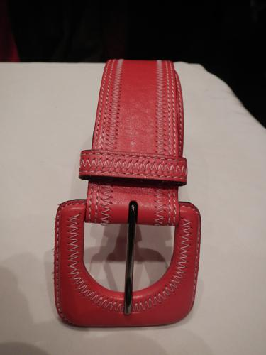 Defile de Marques red Leather Belt
