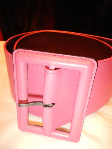 Defile de Marques Pink Leather Belt