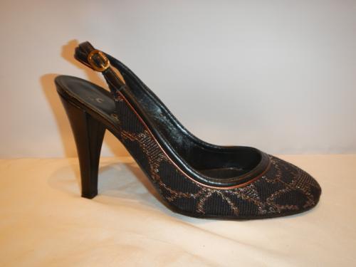 Chaussures Chanel noir et bronze T. 38