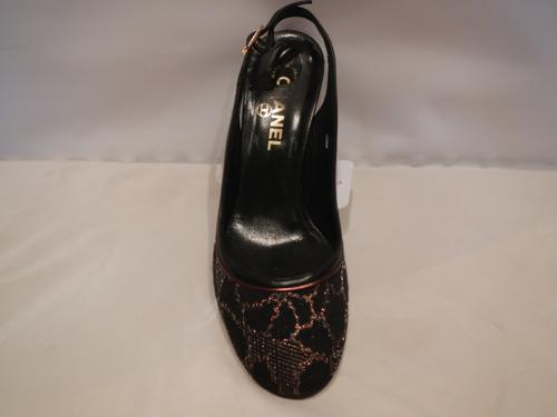 Shoes Chanel black and bronze T.38