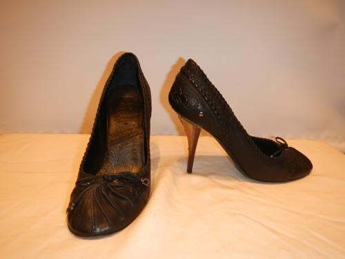 Chaussures Dior cuir noir T.39.5