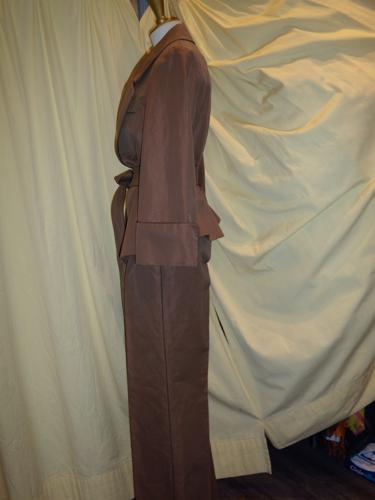 TAILLEUR PANTALON YVES SAINT LAURENT MARRON T.38