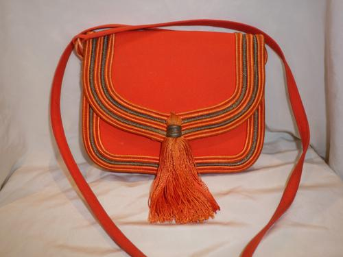 SAC VINTAGE JEAN LOUIS SCHERRER ORANGE