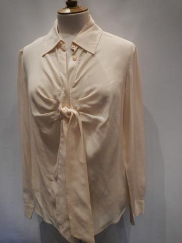 Moschino blouse in beige silk T.42