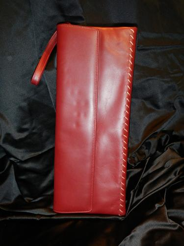 Armani burgundy leather bag