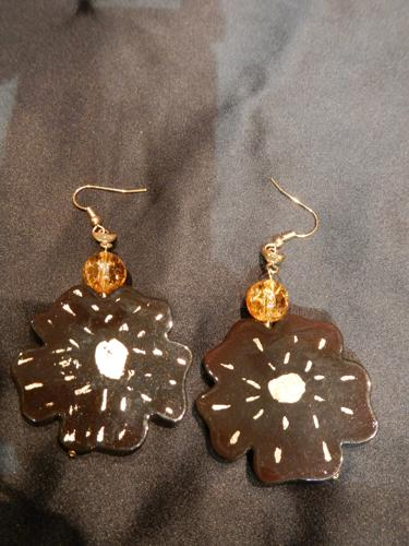 Earrings Loulou de la Falaise  ebony color