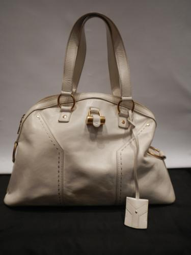 Yves Saint Laurent Muse leather bag ivory