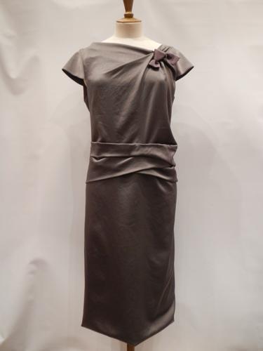 Robe Valentino soie gris T.38