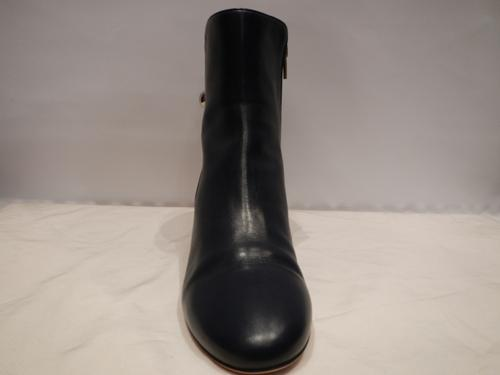 Ferragamo Boots navy blue leather T.40.5
