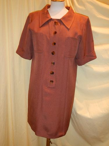 Robe Yves Saint Laurent  Vintage marron T.40