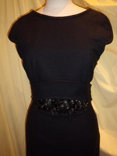 ROBE GIVENCHY SOIE NOIRE T.38