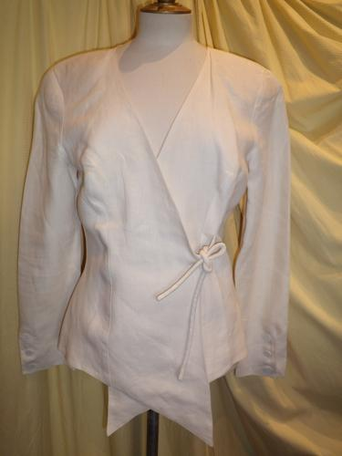 VESTE CHANTAL THOMAS LIN BLANC T.38
