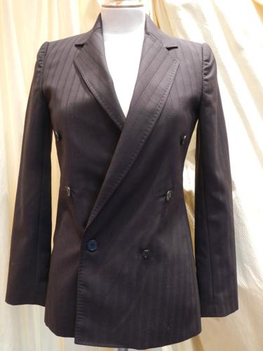 Dolce Gabbana  jacket dark brown striped blue. T.36
