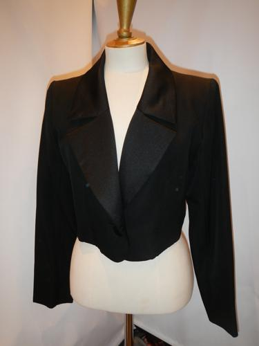 Yves Saint Laurent black jacket Vintage T.38