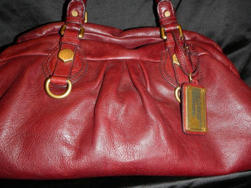 Marc Jacobs bolso de cuero color vino