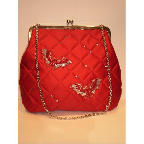 Sac Castelbajac satin rouge