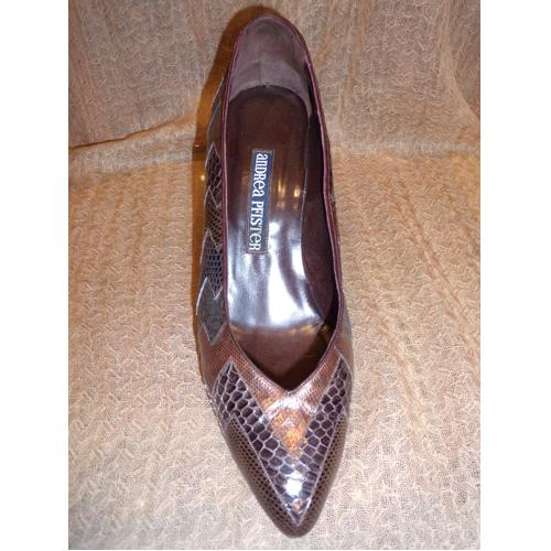 CHAUSSURES VINTAGE ANDREA PFISTER MARRON T.39