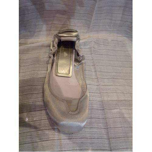 Ballerines STELLA MAC CARTNEY satin gris T.39.5