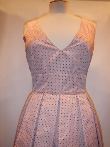 Prada dress T.38 pink taffeta.