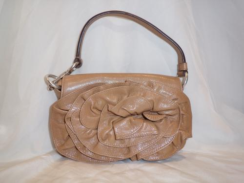 SAC YVES SAINT LAURENT CUIR BEIGE