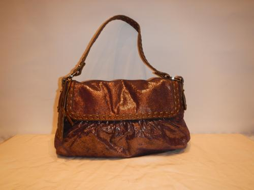 Bag Fendi leather bronze