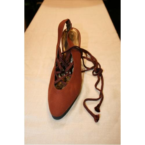 CHAUSSURES YVES SAINT LAURENT MARRON  40