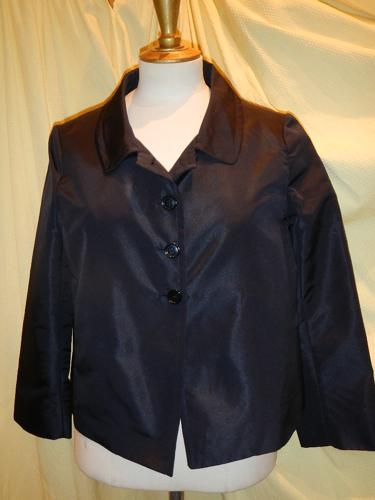 Prada jacket form large navy taffeta T.38