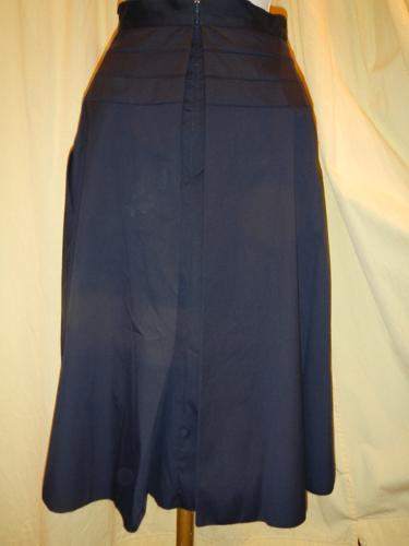 Prada skirt pleated cotton navy T.36