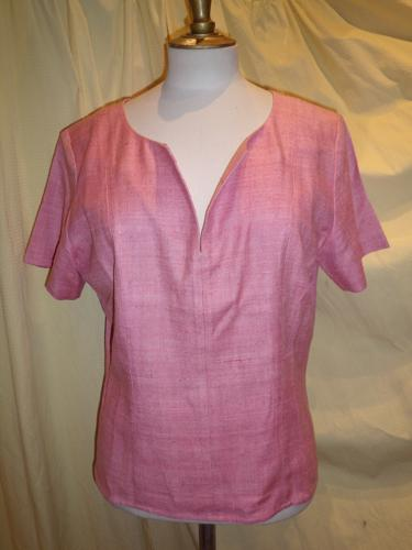 BLOUSE YVES SAINT LAURENT ROSE T.42