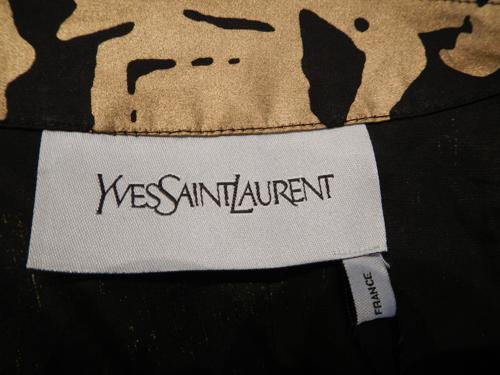 Yves Saint Laurent jacket gold and black T.38.