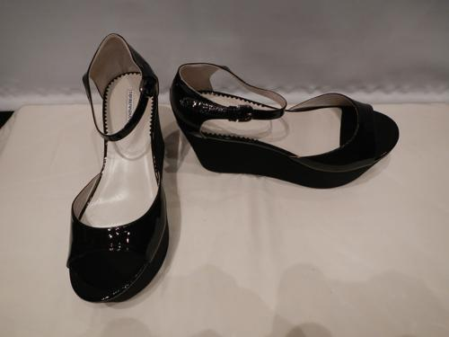 Armani shoes black patent T.39