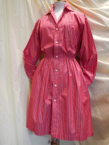 Ralph Lauren cotton dress red striped T38