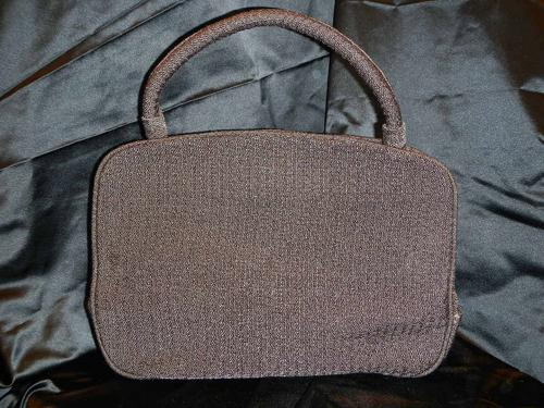 Armani bag brown canvas trimmings