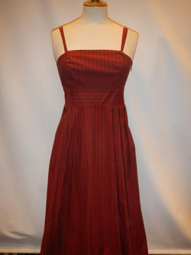 Penny Black cotton dress burgundy T.36.