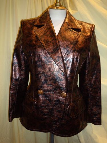 Scherrer  jacket vintage copper color S.38