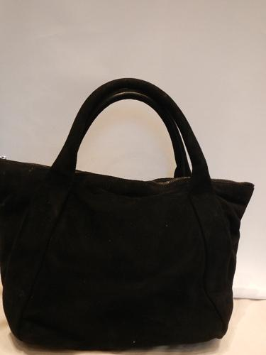 Walter Steiger black suede bag